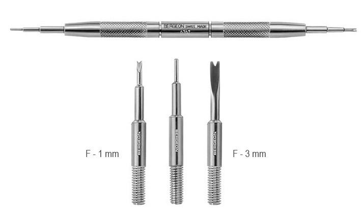 Nástroj na výměnu řemínku k hodinkám - F - 1 mm