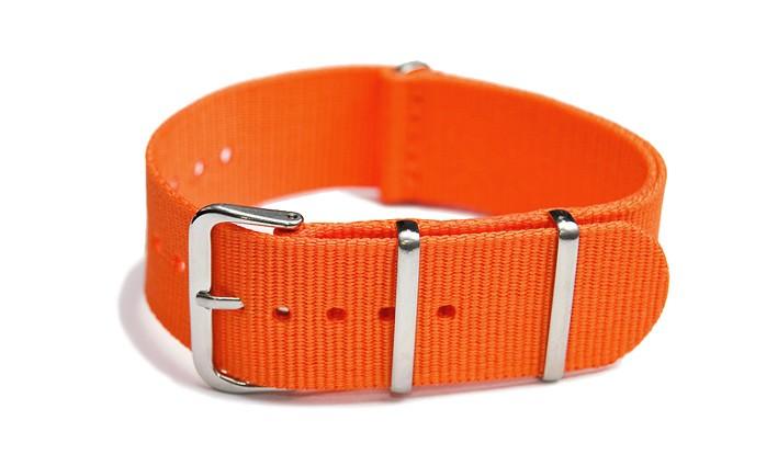 Řemínek k hodinkám NATO Strap - Oranžová - šíře 18 mm