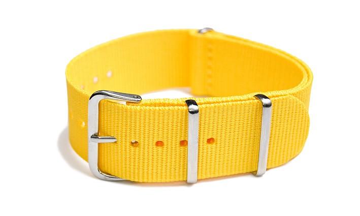 Řemínek k hodinkám NATO Strap - Žlutá - šíře 18 mm