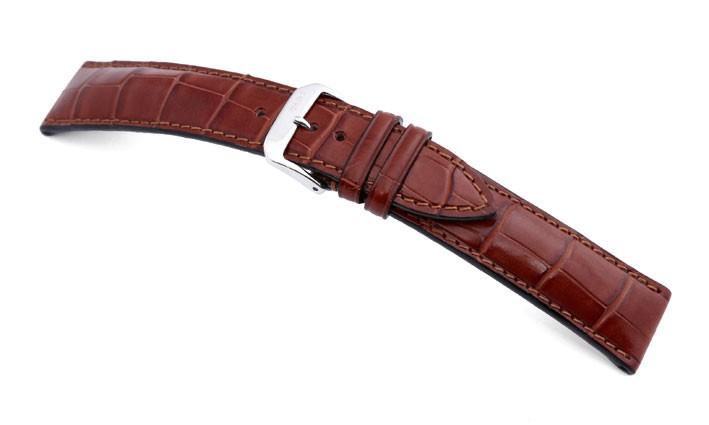 Řemínek k hodinkám RIOS Monarch - mahagonová (05) 18 mm