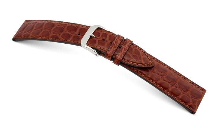Řemínek k hodinkám RIOS Prestige - mahagonová (05) 18 mm