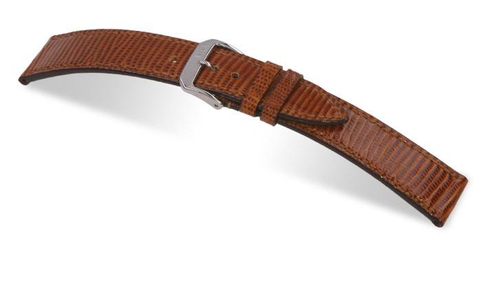 Řemínek k hodinkám RIOS Allure - mahagonová (05) 20 mm pánský