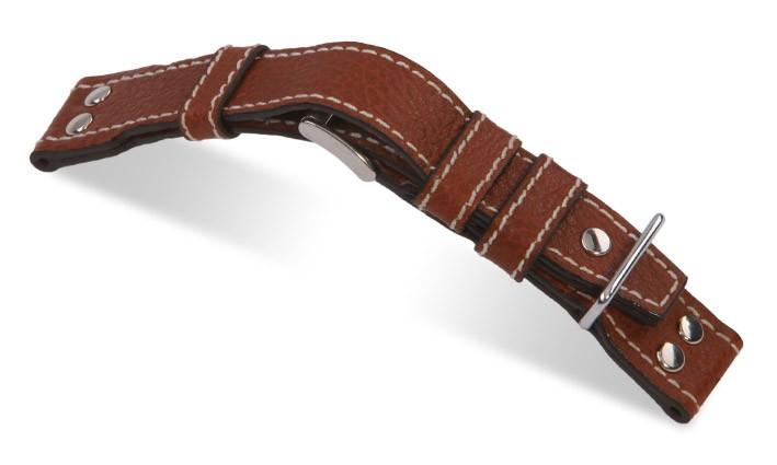 Řemínek k hodinkám RIOS Aviator - světle hnědá (06) 22mm