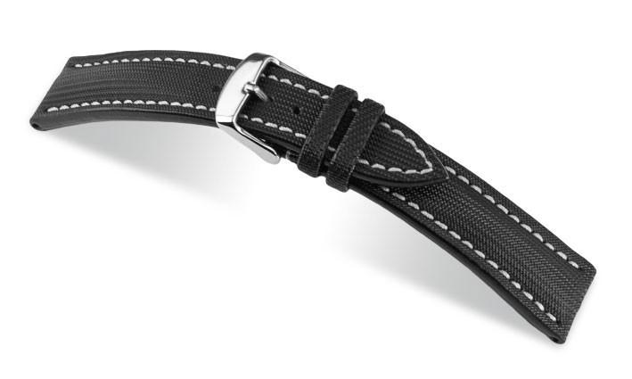 Řemínek k hodinkám RIOS Bass - černá (13) 22 mm