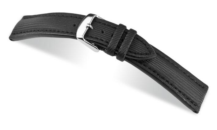 Řemínek k hodinkám RIOS Just - černá (13) 22 mm
