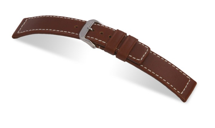 Řemínek k hodinkám RIOS Mariner - tmavě hnědá (07) 18 mm