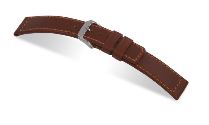 Řemínek k hodinkám RIOS Navigator - mahagonová (05) 18 mm