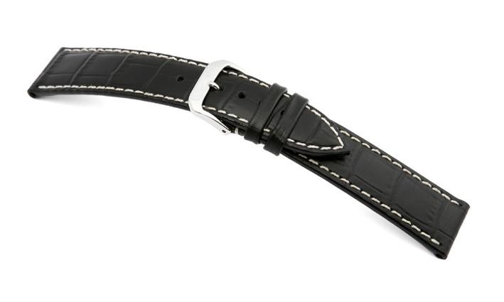 Řemínek k hodinkám RIOS Panama - tmavě hnědá (07) 22 mm pánský