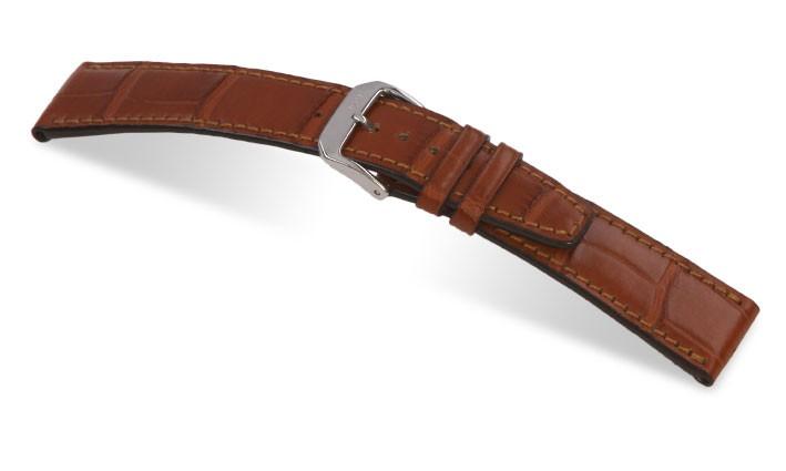 Řemínek k hodinkám IWC RIOS Spitfire - mahagonová (05) 22mm
