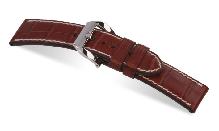 Řemínek k hodinkám Panerai RIOS Modena - mahagonová (05) 24mm