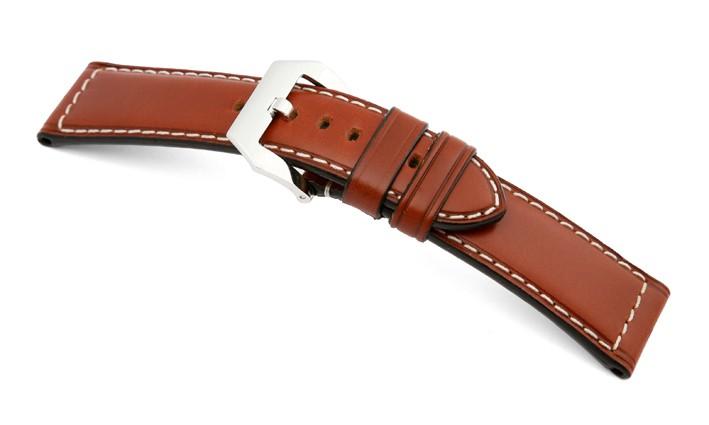 Řemínek k hodinkám Panerai RIOS Firenze - středně hnědá (06) 26>22mm