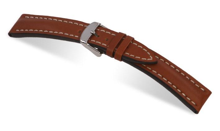 Řemínek k hodinkám Breitling RIOS Tornado - středně hnědá (06) 20>18mm