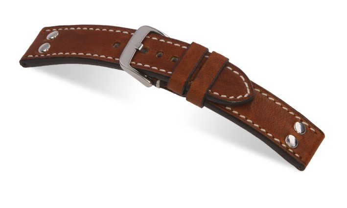 Řemínek k hodinkám RIOS Chesterfield - tmavě hnědá (07) 22 mm