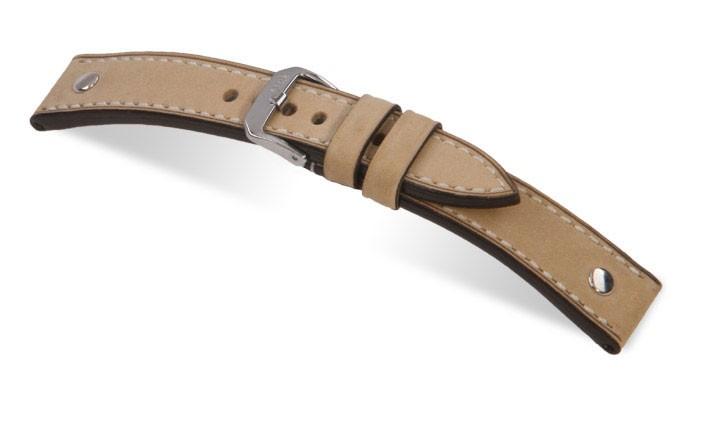 Řemínek k hodinkám RIOS London - světle hnědá (04) 20 mm