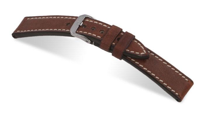 Řemínek k hodinkám RIOS Oxford - mahagonová (05) 18 mm