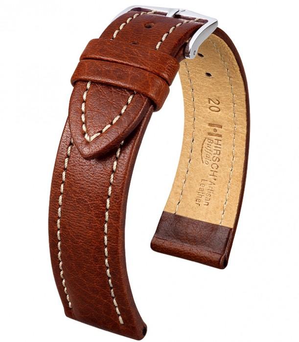 Řemínek k hodinkám HIRSCH Buffalo - zlatohnědá (75) 20 mm pánský