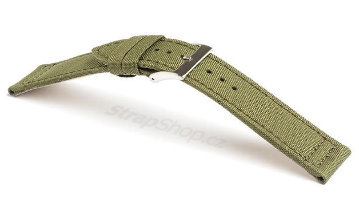 Řemínek k hodinkám Campagnolo Canvas - černá (01) 22 mm
