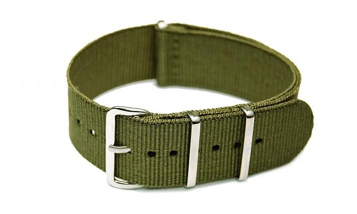 Řemínek k hodinkám NATO Strap - Olivová - šíře 20 mm
