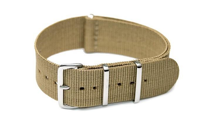 Řemínek k hodinkám NATO Strap - Khaki - šíře 18 mm