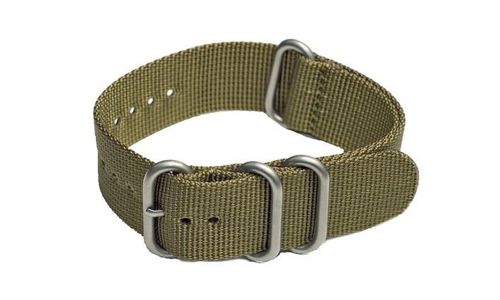 Řemínek k hodinkám ZULU Strap - zelená - šíře 20 mm