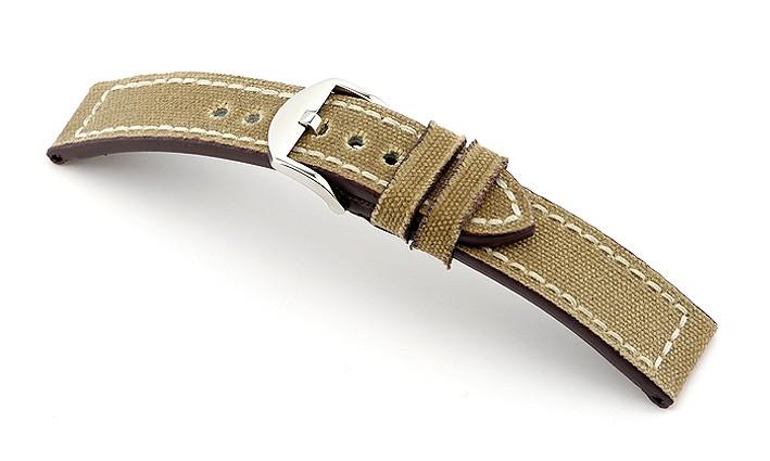 Řemínek k hodinkám RIOS Ohio - šedá (03) 20 mm