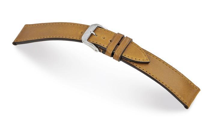 Řemínek k hodinkám RIOS Seattle - středně hnědá (06) 18 mm