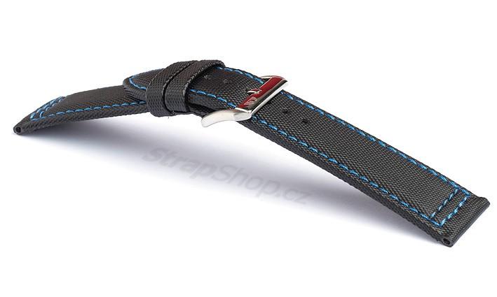 Řemínek k hodinkám CAMPAGNOLO Sailcloth - modré prošití (04) 20 mm