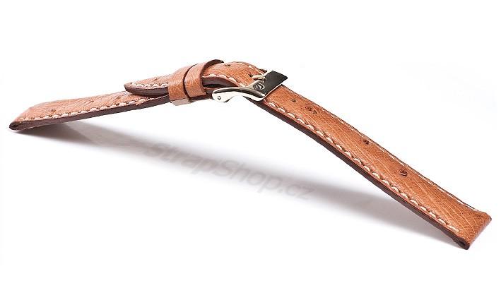 Řemínek k hodinkám CAMPAGNOLO Struzzo - černá (01) 18>16 mm
