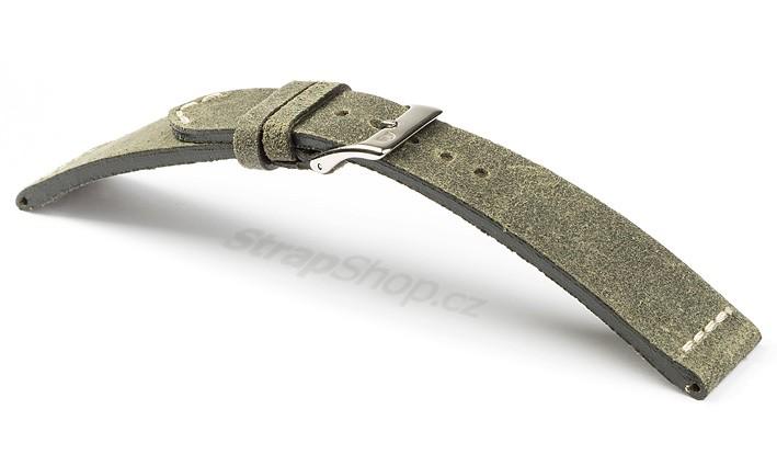 53d73e0c72a Řemínek k hodinkám CAMPAGNOLO Vellut - modrá (04) 18 mm