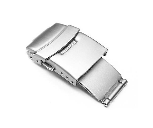 Skládací spona k řemínku k hodinkám - Nerezová stříbrná 22 mm